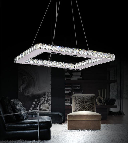 CWI Lighting LED Chandelier with Chrome finish | 5080P20ST-S