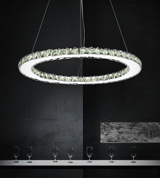 CWI Lighting LED Chandelier with Chrome finish | 5080P24ST-R