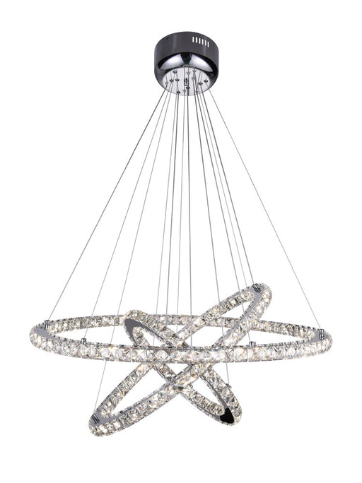 CWI Lighting LED Chandelier with Chrome finish | 5080P32ST-3R