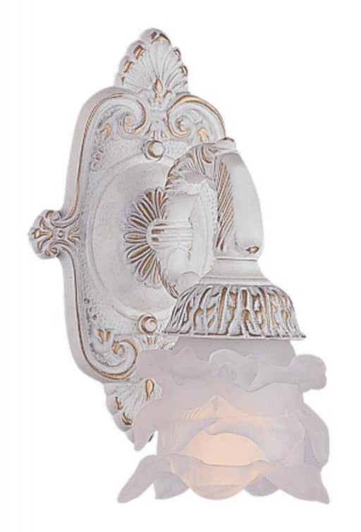 Crystorama Paris Market 1 Light Antique White Sconce | 5221-AW
