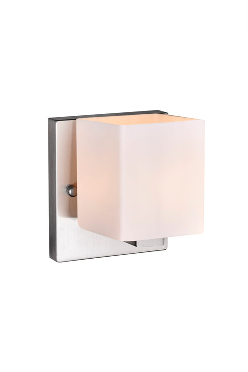 CWI Lighting 1 Light Bathroom Sconce with Satin Nickel finish | 5442W6SN