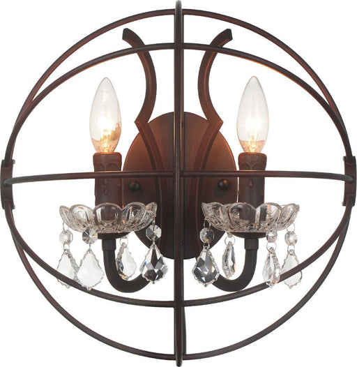 CWI Lighting 2 Light Wall Sconce with Brown finish | 5465W14DB-2