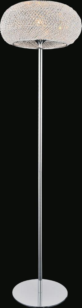CWI Lighting 1 Light Floor Lamp with Chrome finish | 5476F16C