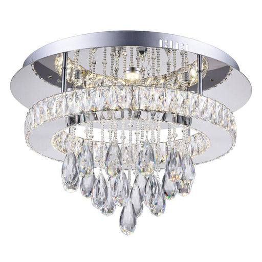 CWI Lighting LED Flush Mount with Chrome finish | 5613C20ST-R