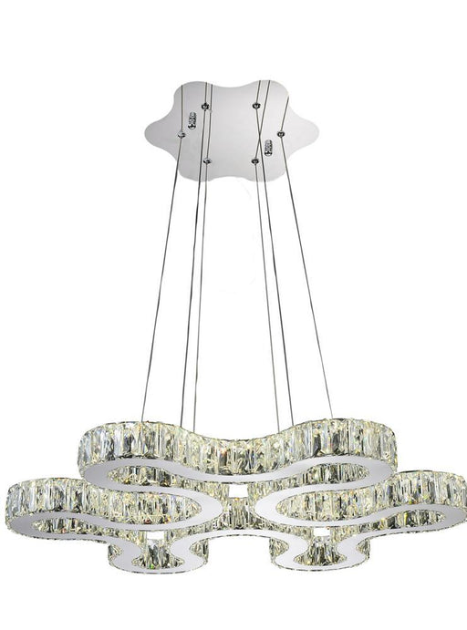 CWI Lighting LED Chandelier with Chrome finish | 5616P27ST-R