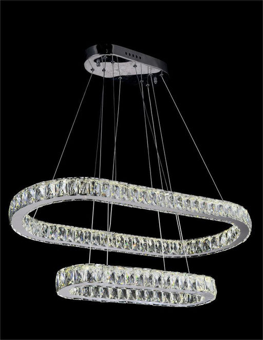 CWI Lighting LED Chandelier with Chrome finish | 5628P34ST-2O