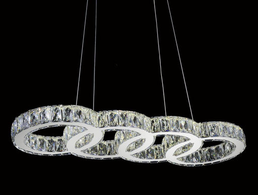 CWI Lighting LED Chandelier with Chrome finish | 5629P33ST-O