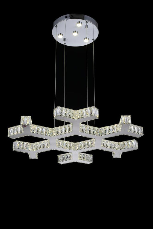 CWI Lighting LED Chandelier with Chrome finish | 5642P30ST-R
