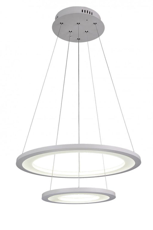 CWI Lighting LED Chandelier with White finish | 5665P20-2-103