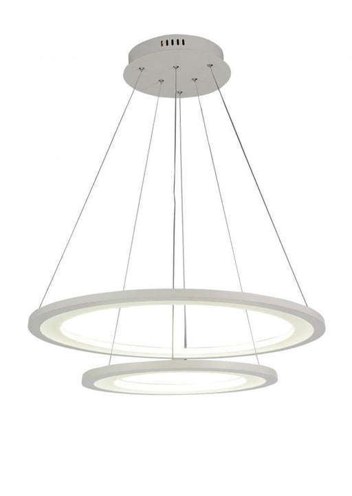 CWI Lighting LED Chandelier with White finish | 5665P24-2-103