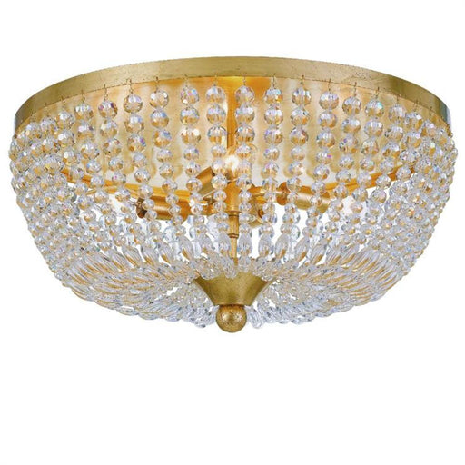 Crystorama Rylee 4 Light Antique Gold Ceiling Lamp | 605-GA