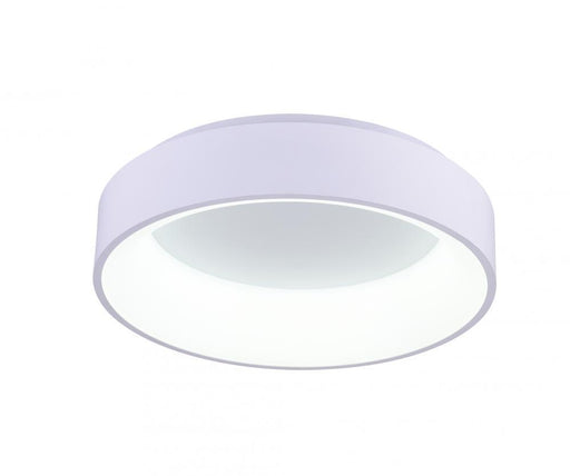 CWI Lighting LED Drum Shade Flush Mount with Gray & White finish | 7103C18-1-104