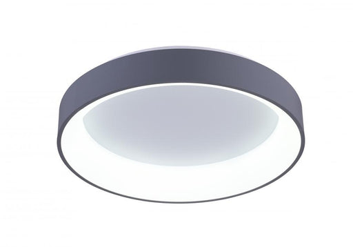 CWI Lighting LED Drum Shade Flush Mount with White finish | 7103C18-1-167