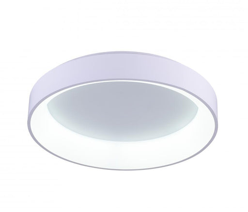 CWI Lighting LED Drum Shade Flush Mount with White finish | 7103C24-1-104
