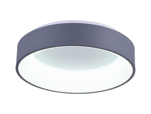 CWI Lighting LED Drum Shade Flush Mount with Gray & White finish | 7103C24-1-167