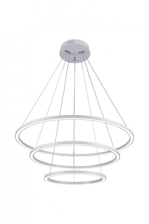CWI Lighting LED Chandelier with White finish | 7112P31-103