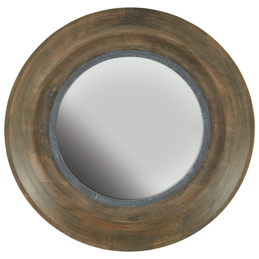 Capital Canada Brown Washed Wood and Iron Mirror | 730204MM