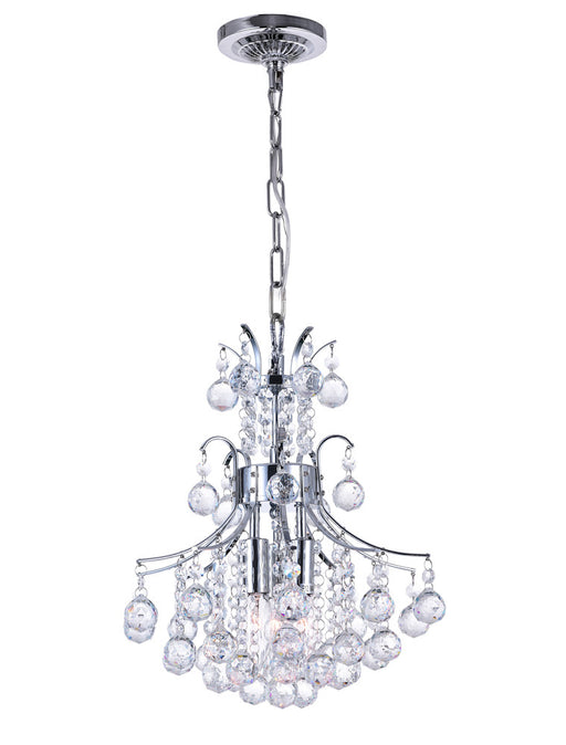 CWI Lighting 3 Light Mini Chandelier with Chrome finish | 8012P12C
