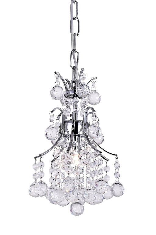 CWI Lighting 1 Light Mini Chandelier with Chrome finish | 8012P8C