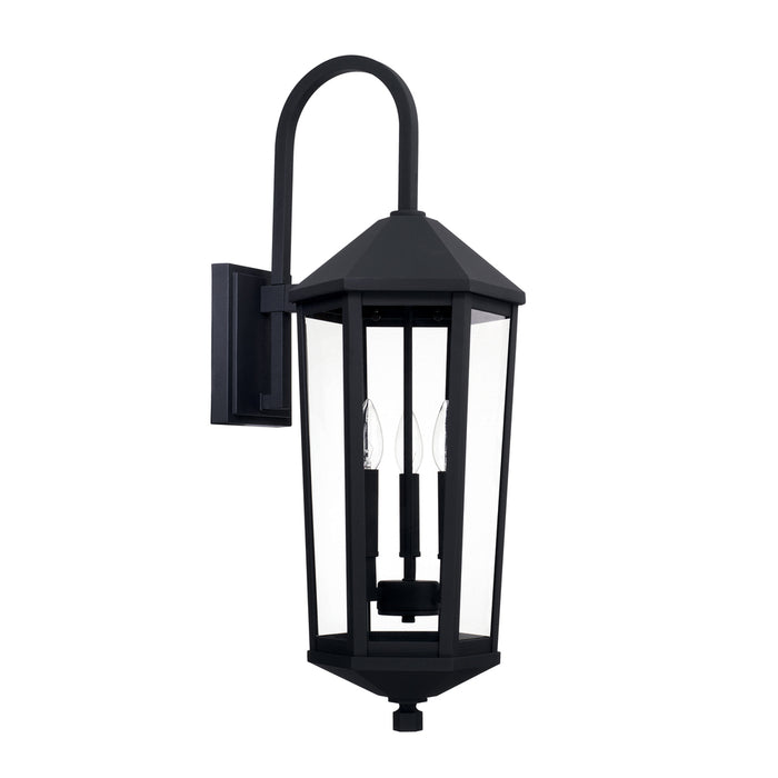 Capital 3 Light Outdoor Wall Lantern | 926931BK