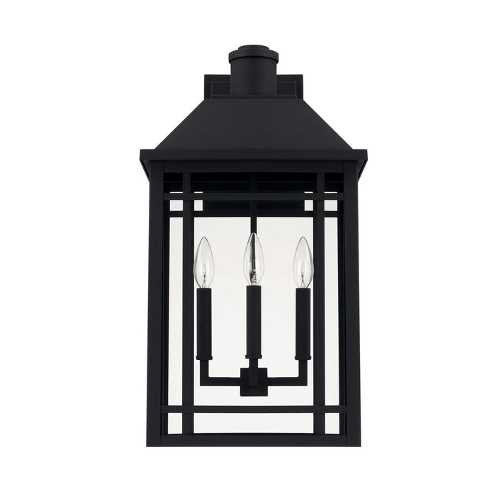 Capital 3 Light Outdoor Wall Lantern | 927131BK