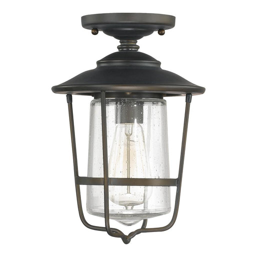 Capital 1 Light Outdoor Flush Mount | 9607OB