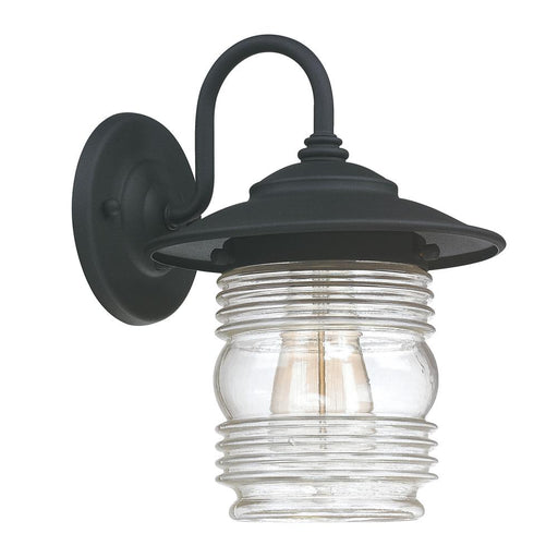 Capital 1 Light Outdoor Wall Lantern | 9671BK