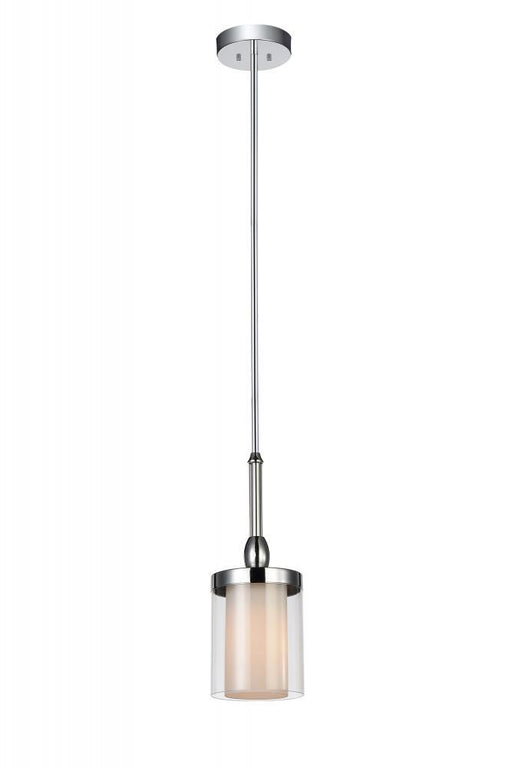 CWI Lighting 1 Light Candle Mini Chandelier with Chrome finish | 9851P5-1-601
