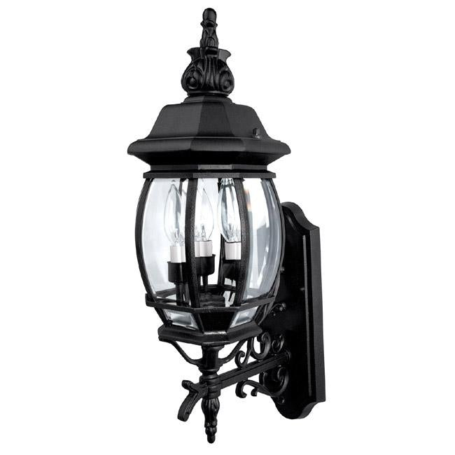 Capital 3 Light Outdoor Wall Lantern | 9863BK