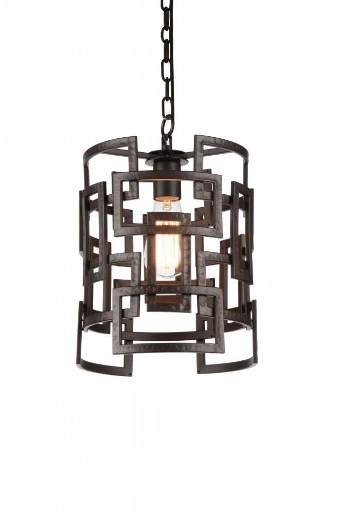 CWI Lighting 1 Light Down Chandelier with Brown finish | 9913P10-1-205
