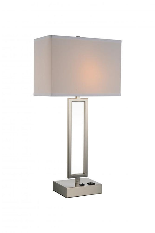 CWI Lighting 1 Light Table Lamp with Satin Nickel finish | 9915T14-1-606
