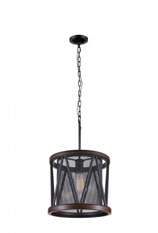 CWI Lighting 1 Light Drum Shade Mini Chandelier with Pewter finish | 9954P13-1-101