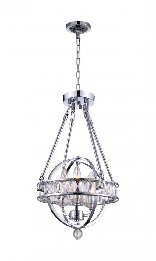 CWI Lighting 3 Light Mini Chandelier with Chrome finish | 9957P12-3-601