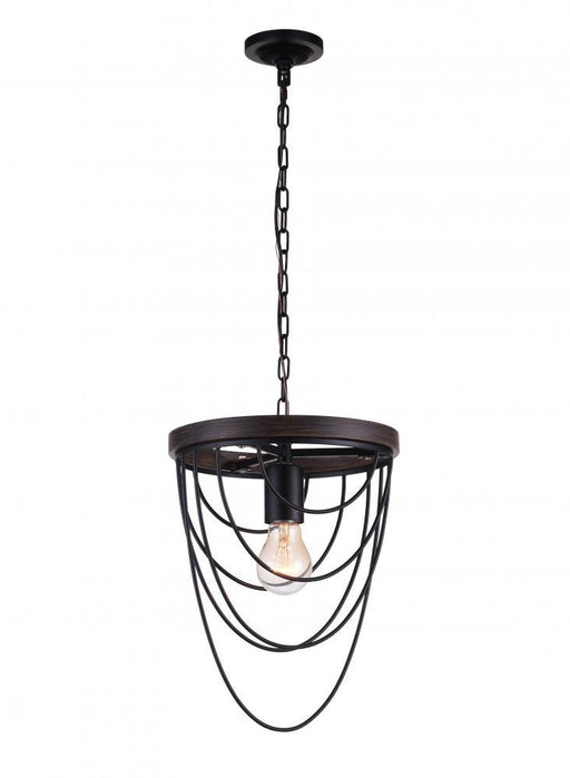 CWI Lighting 1 Light Mini Chandelier with Black finish | 9962P9-1-101