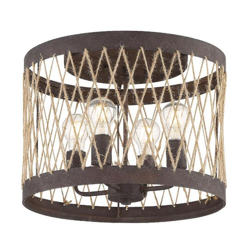 Crystorama Anders 4 Light Forged Bronze Ceiling Mount | ADR-A5024-FB