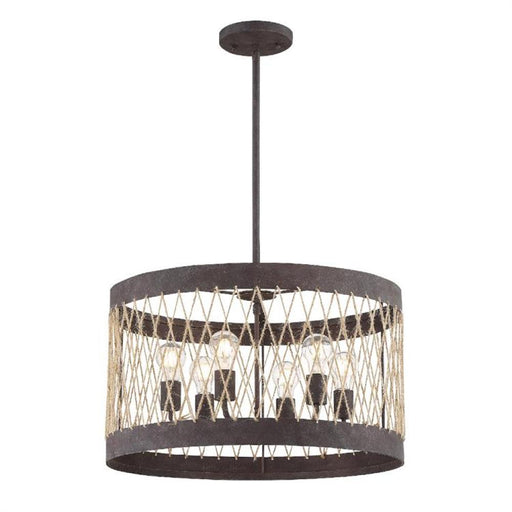 Crystorama Anders 6 Light Forged Bronze Chandelier | ADR-A5026-FB