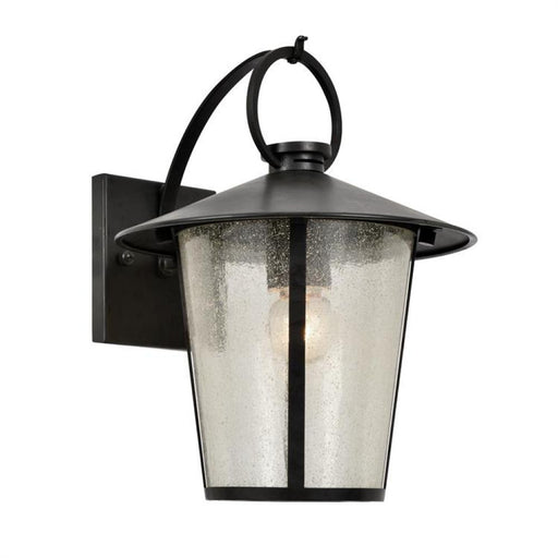 Crystorama Andover Outdoor 1 Light Matte Black Wall Mount | AND-9201-SD-MK
