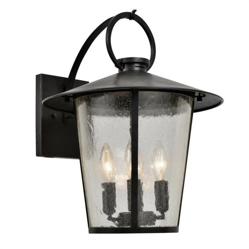 Crystorama Andover Outdoor 4 Light Matte Black Wall Mount | AND-9202-SD-MK