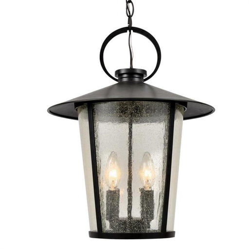 Crystorama Andover Outdoor 4 Light Matte Black Chandelier | AND-9204-SD-MK