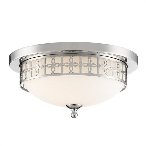 Crystorama Anniversary 2 Light Polished Nickel Ceiling Mount | ANN-2103-PN