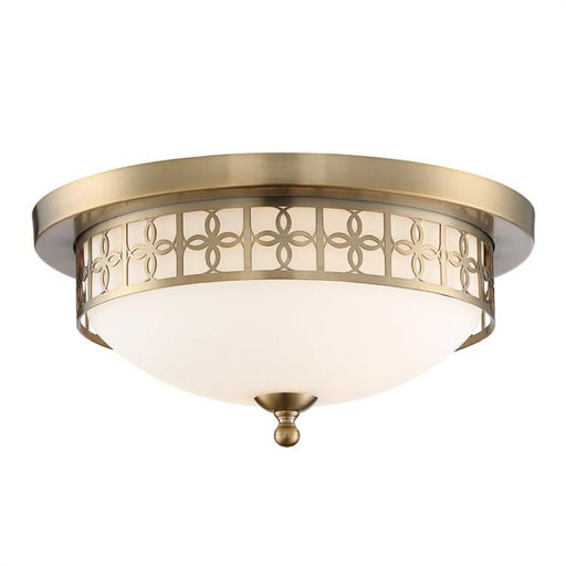 Crystorama Anniversary 2 Light Vibrant Gold Ceiling Mount | ANN-2103-VG