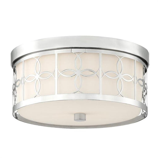 Crystorama Anniversary 2 Light Polished Nickel Ceiling Mount | ANN-2105-PN