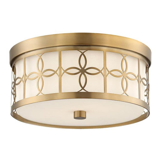 Crystorama Anniversary 2 Light Vibrant Gold Ceiling Mount | ANN-2105-VG