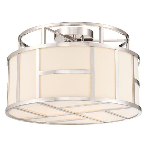 Crystorama Libby Langdon For Crystorama Danielson 4 Light Polished Nickel Ceiling Mount | DAN-400-PN