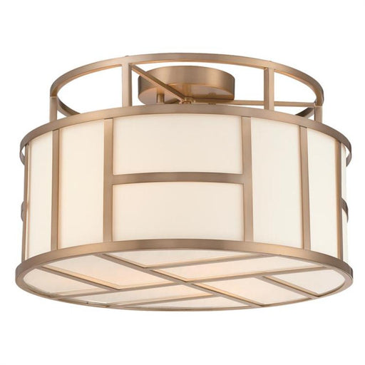 Crystorama Libby Langdon For Crystorama Danielson 3 Light Vibrant Gold Ceiling Mount | DAN-400-VG