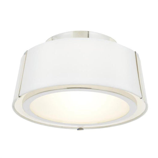 Crystorama Fulton 2 Light Polished Nickel Ceiling Mount | FUL-903-PN