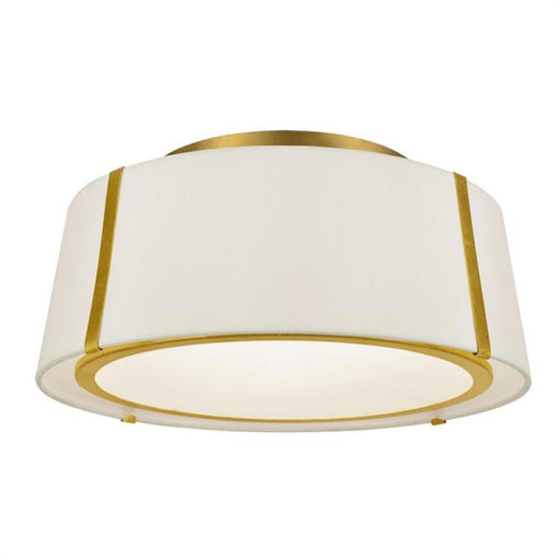 Crystorama Fulton 3 Light Gold Ceiling Mount | FUL-905-GA