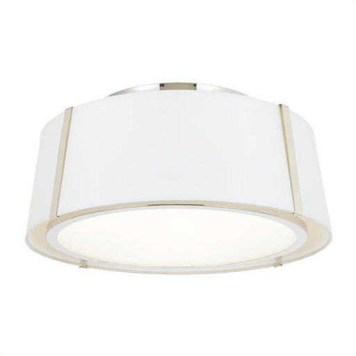Crystorama Fulton 3 Light Polished Nickel Ceiling Mount | FUL-905-PN