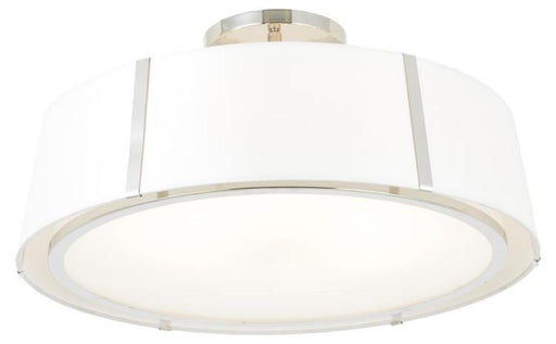 Crystorama Fulton 6 Light Polished Nickel Chandelier Ceiling Mount | FUL-907-PN_CEILING