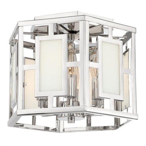 Crystorama Libby Langdon for Crystorama Hillcrest 6 Light Polished Nickel Ceiling Mount | HIL-990-PN